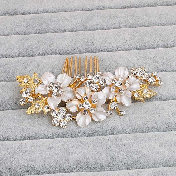 Gold/Silver Floral Hair Comb