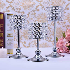 Gold/Silver Wedding Candle Holder (3Pcs/Lot)