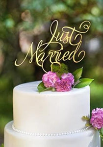 Just Married Cake Topper