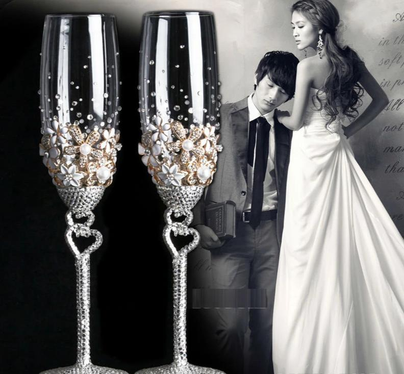 Luxury Rhinestone Champagne Glass
