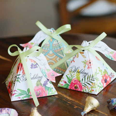 Floral Pyramix Candy Boxes