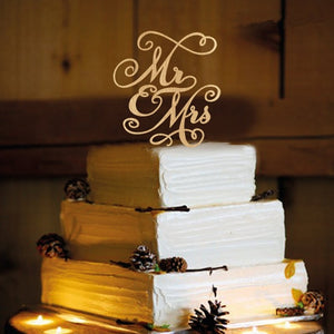Wood Rustic Wedding Cake Topper