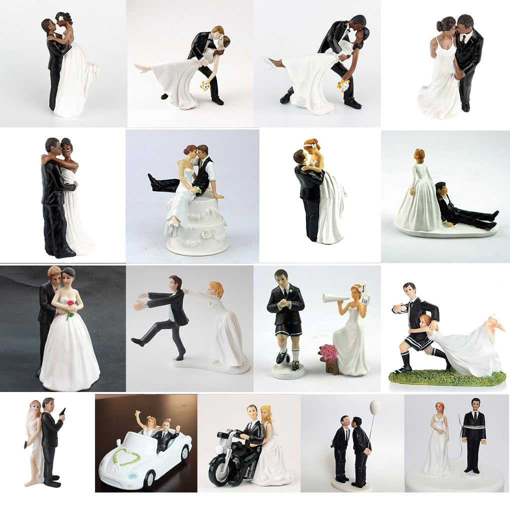 Romantic Groom & Bride Cake Topper