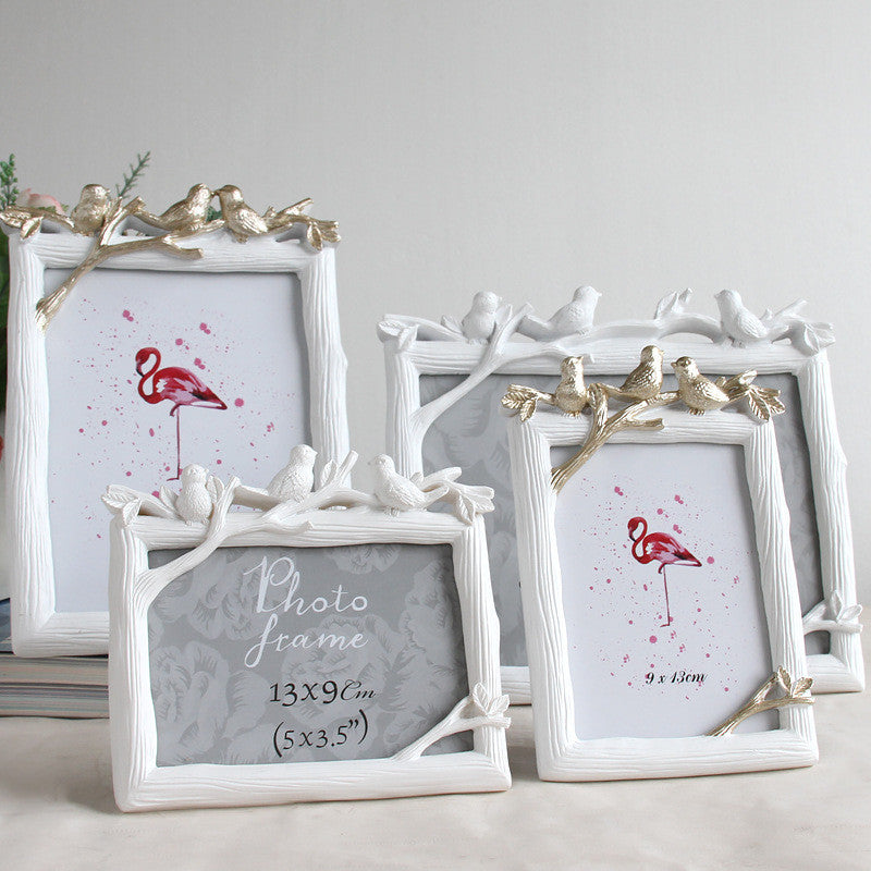 Retro Resin Bird Picture Frame