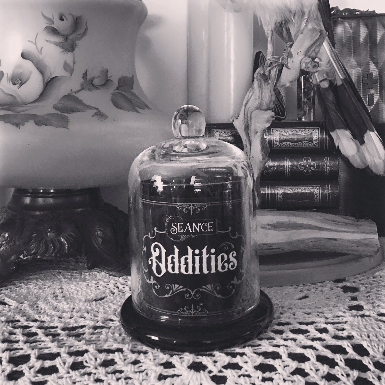 Oddities Cloche Candle (Musk and Jasmine)