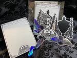 Seance note pad and cemetery stickers