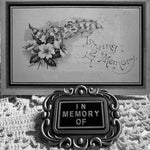 Memento Mori- in Memory of Brooch
