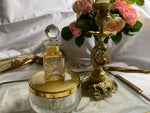 Victorian Perfume Bottle - rare cut glass, gold