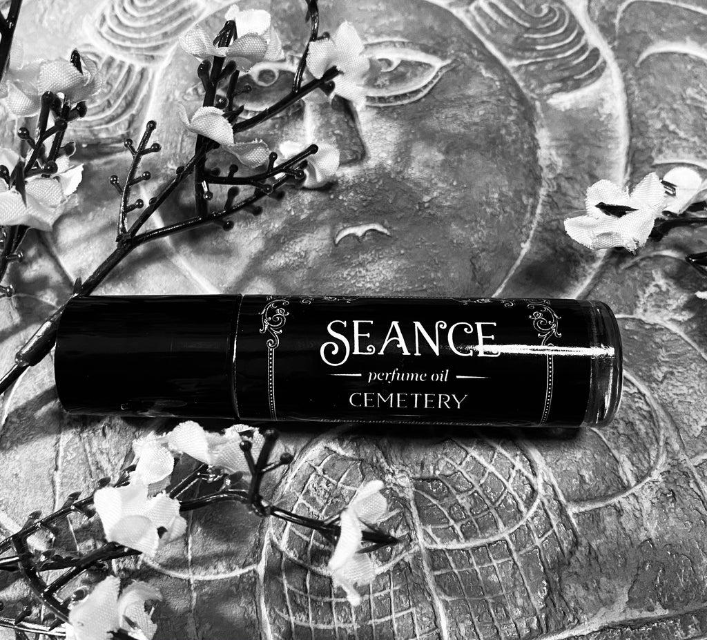 Cemetery Perfume - (dragonsblood resin, grass, earth, moss, wood, with hints of vanilla and patchouli )
