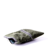 Envelope Clutch - in Deep Sage Green waxed canvas