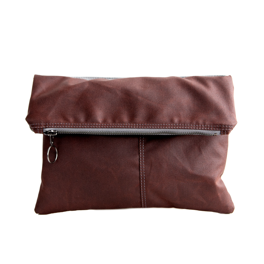 Envelope Clutch - in Oxblood