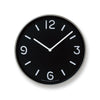 Mono Wall Clock in black by Lemnos