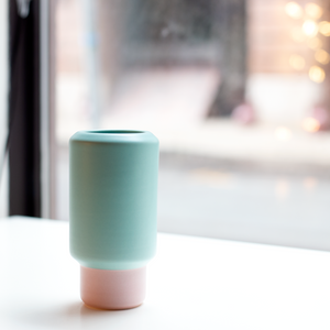 Lucie Kaas Vase - Pink and Mint - Small