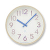 Potto Wall Clock in 3D blue by Lemnos