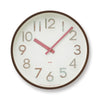 Potto Wall Clock in 3D pink by Lemnos