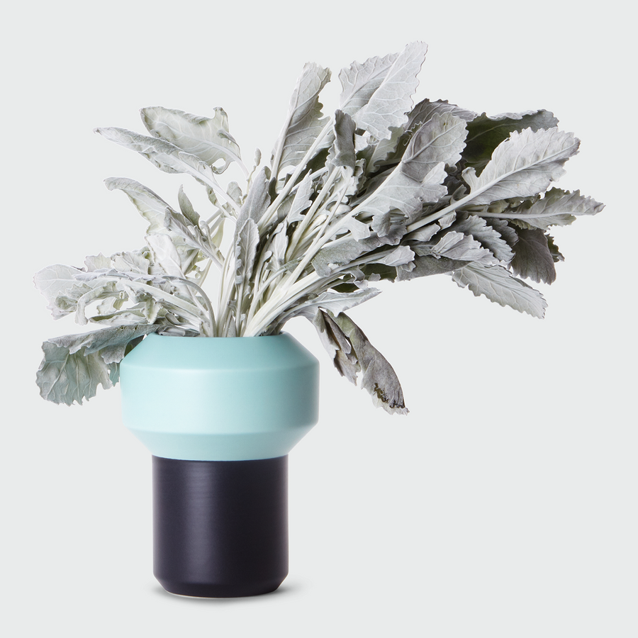 Lucie Kaas Vase - Mint and Teal - Large