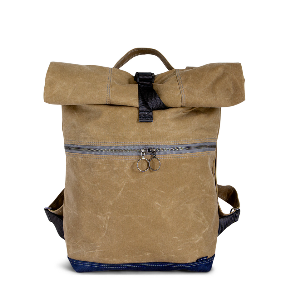 Backpack no.4 in Tan Waxed Canvas