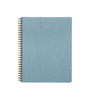 Appointed Bookcloth Spiral Notebook - Chambray Blue