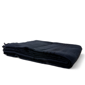 Handwoven Bag Blanket - Black