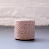 Espresso Cup in pebbled pink and white