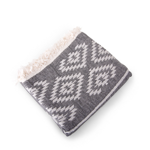 Handwoven Bag Blanket - Gray Hex