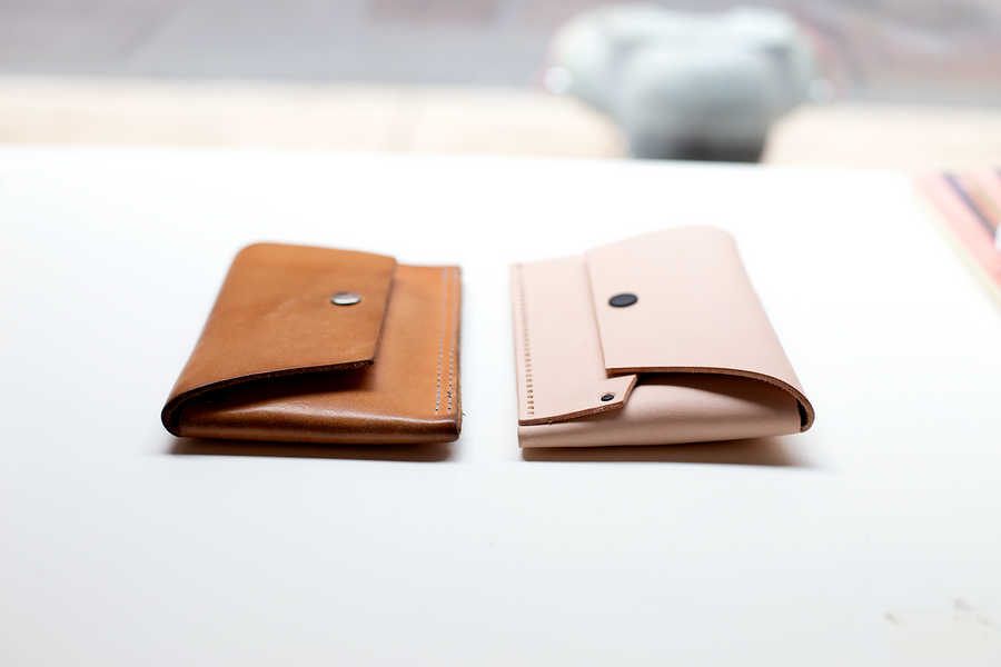 Tiny Clutch Phone Case - leather