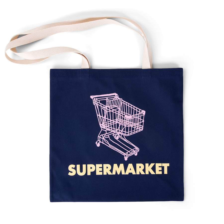 SUPERMARKET TOTE - navy cart