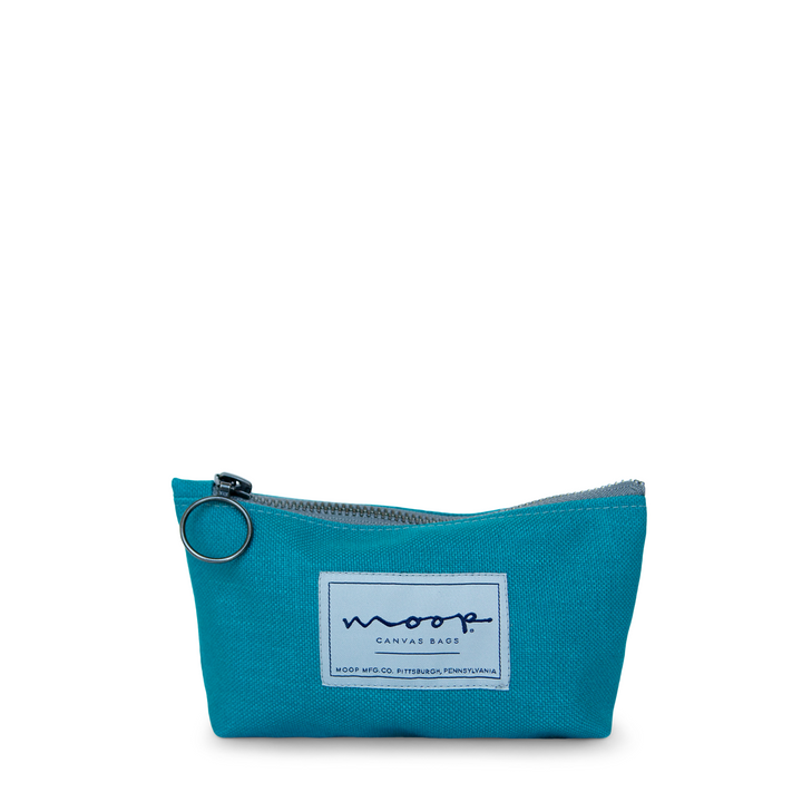 Tiny Zip Pouch no.2 - SMALL - TURQUOISE