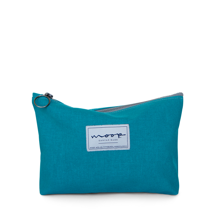 Tiny Zip Pouch no.1 - large - TURQUOISE