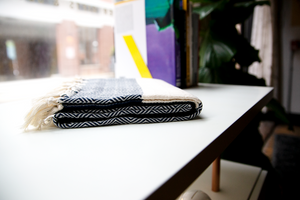 Handwoven Bag Blanket - Black Diamond