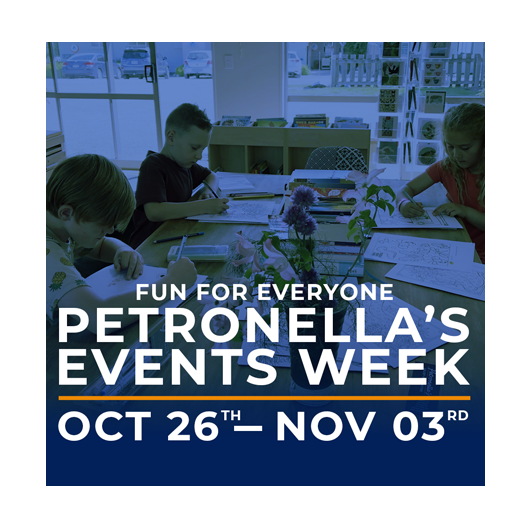 PETRONELLA'S EVENTS WEEK  SATURDAY 26 OCTOBER TO SUNDAY 3 NOVEMBER
