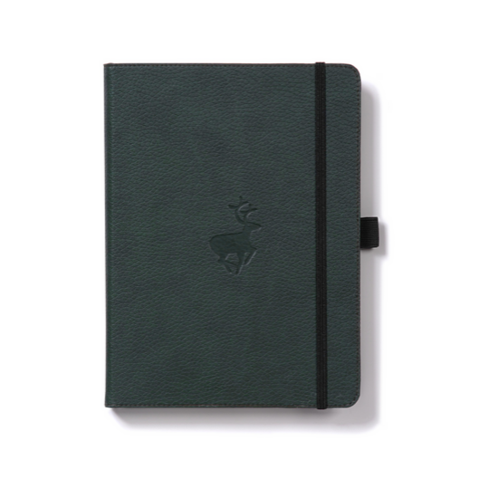 Dingbats Wildlife Notebook Green Deer A5 lined