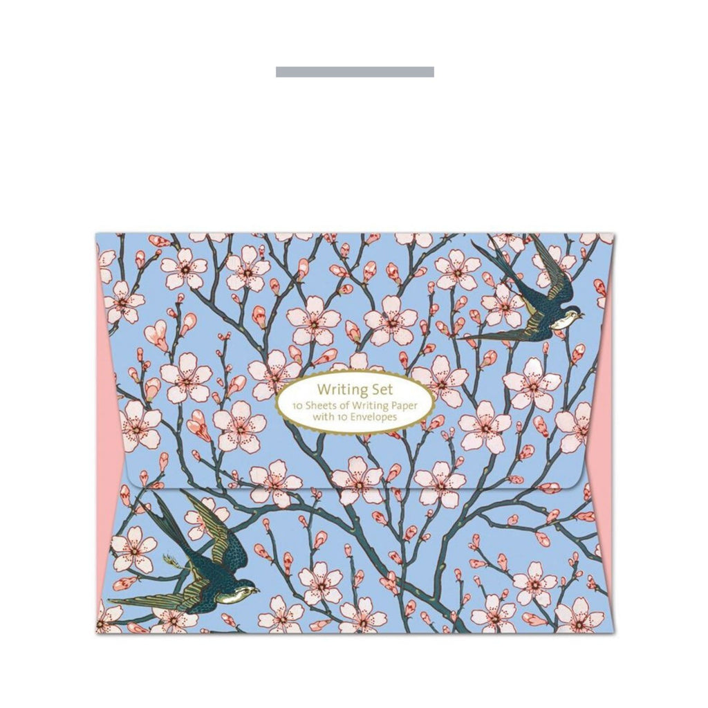 Writing Set Almond Blossom and Swallow