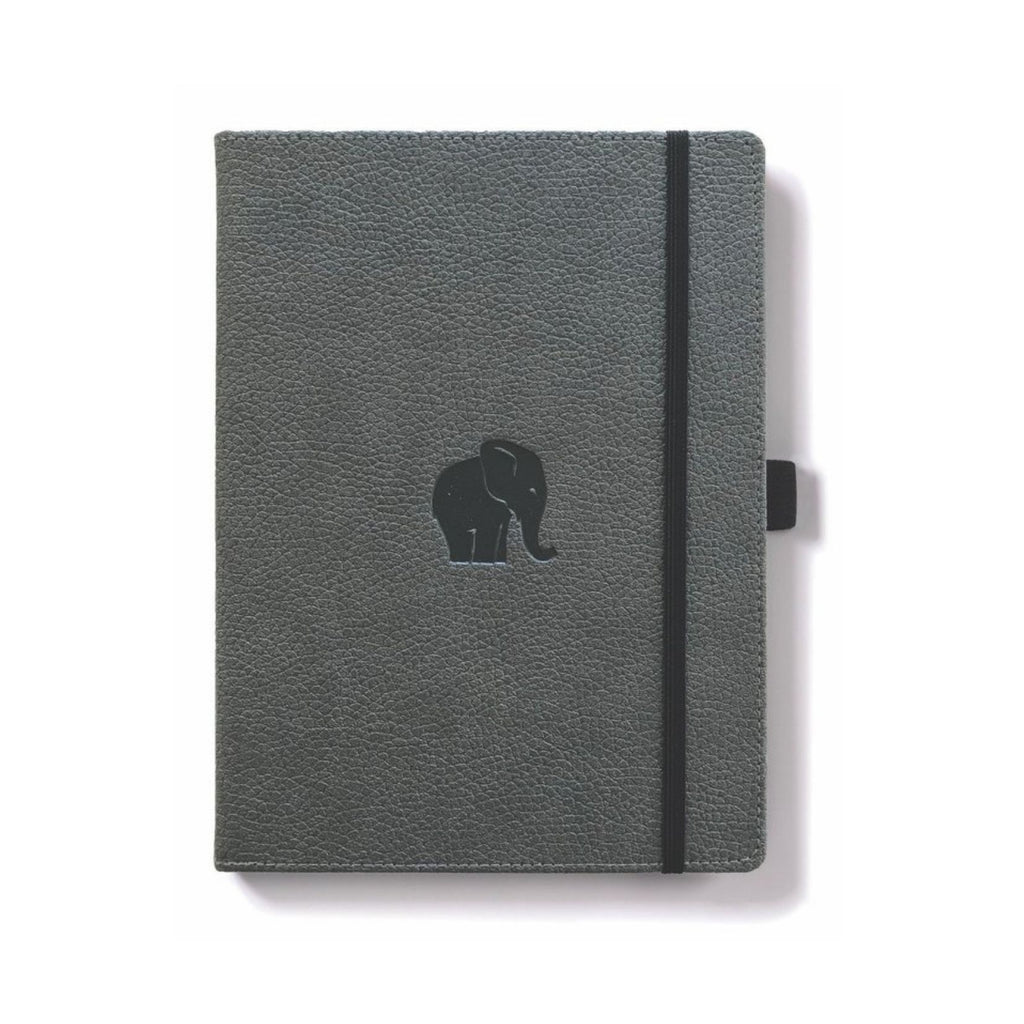 Dingbats Wildlife Notebook Grey Elephant A6 Lined