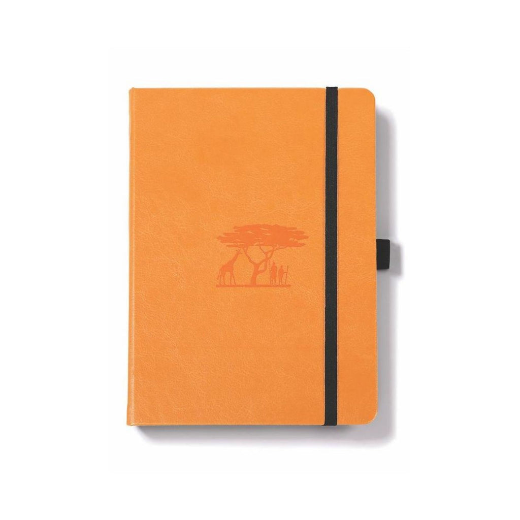 Dingbats Earth Notebook Tangerine Dotted