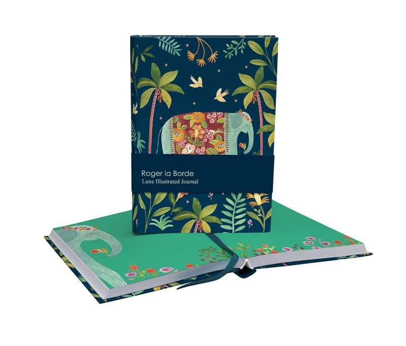 Rainbow Elephant Illustrated Journal