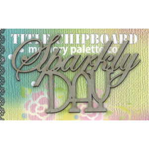 MP-58237 Mini Title Chipboard Sparkly Day