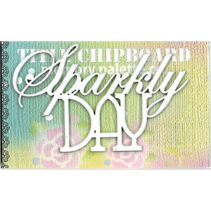 MP-58306 Mini Title Chipboard White Sparkly Day