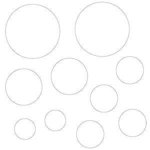 MP-58637 Clear Embellishments Circles