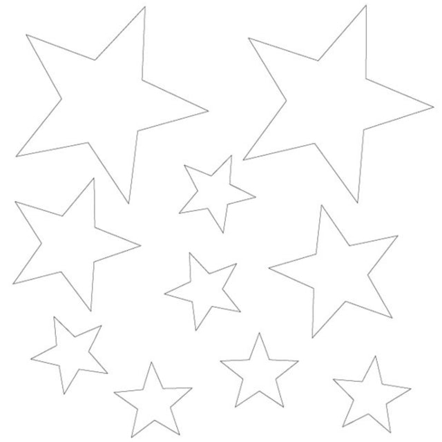 MP-58640 Clear Embellishments Stars