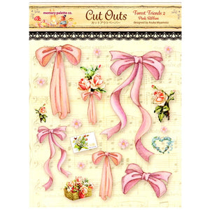 MP-58841 Forest Friends 2 Cut Outs Pink Ribbon