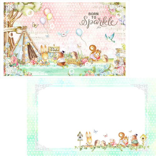 MP-60011 Forest Friends Journal Cards Tea Time