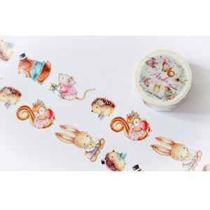 MP-60015 Forest Friends Washi Tape Characters 25mm x 10m