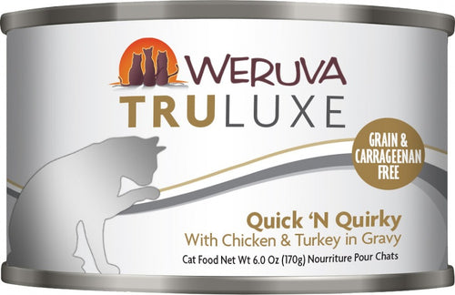 Weruva TRULUXE Quick N Quirky with Chicken and Turkey in Gravy Canned Cat Food