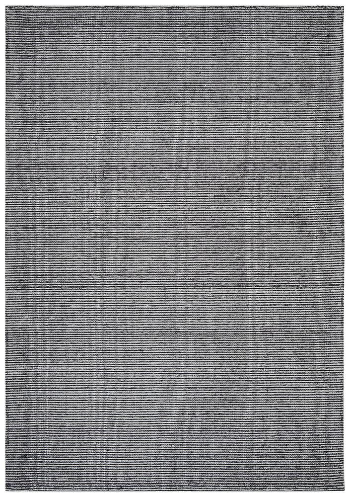 AURA Black Cotton Rayon Rug