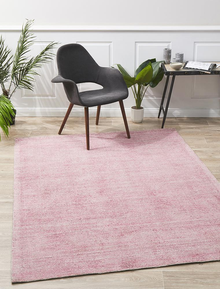 AURA Rose Cotton Rayon Rug