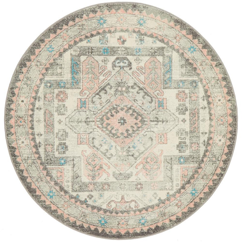 VIBE 704 Silver Round Rug