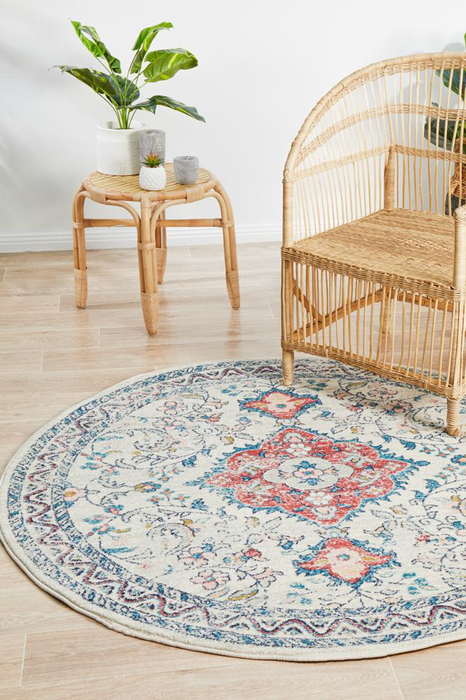 Mirage Gwyneth Stunning Transitional Silver Round Rug