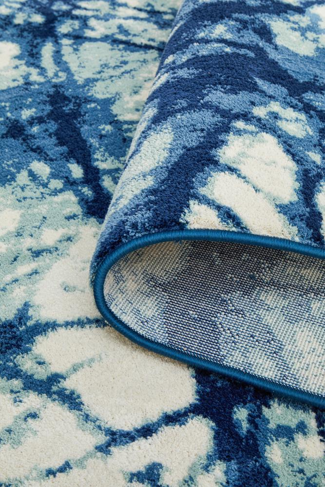 Chelsea Claire Modern Rug Blue Cream