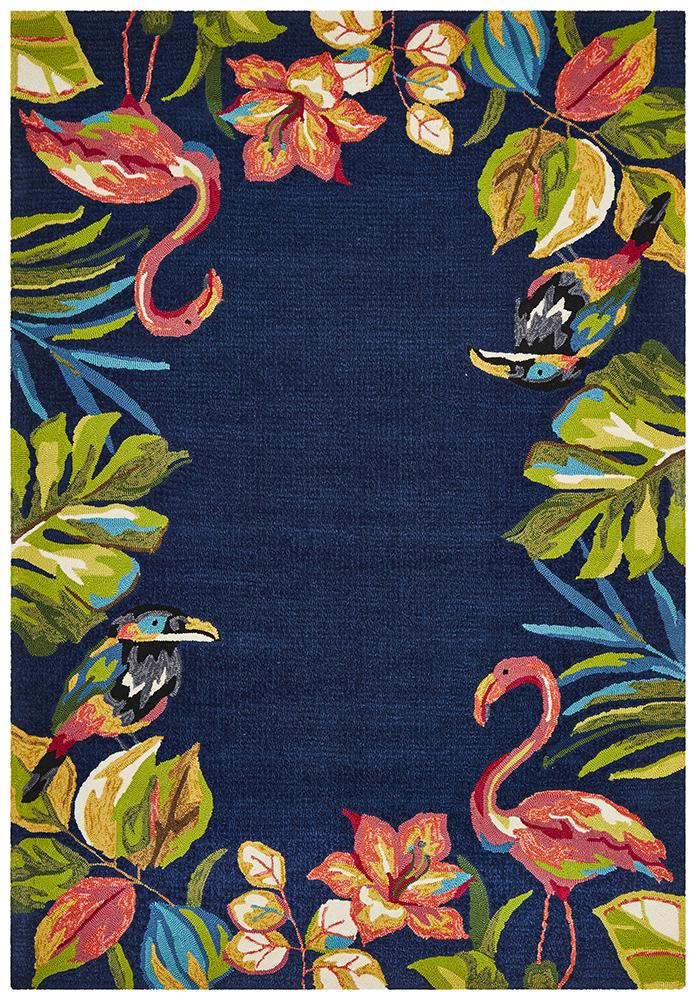CUBA Tropical Garden Stunning Indoor Outdoor Rug